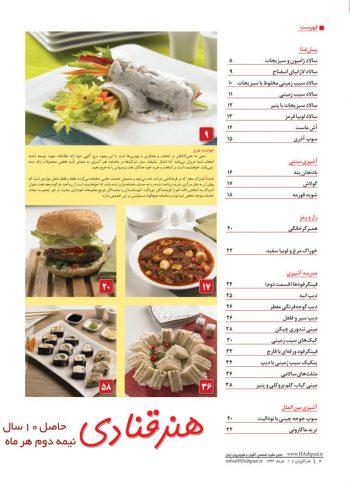 فهرست مجله هنر آشپزی 104