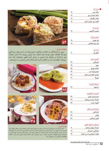 فهرست مجله هنر آشپزی 56