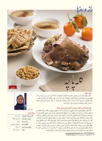 راز و رمز مجله هنر آشپزی 102